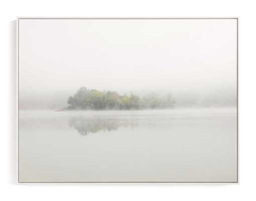 The Island - White Wood Canvas Frame - 40x30 - Minted