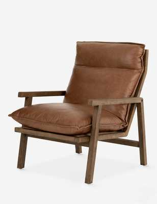 ROWENA LEATHER CHAIR, BROWN - Lulu and Georgia