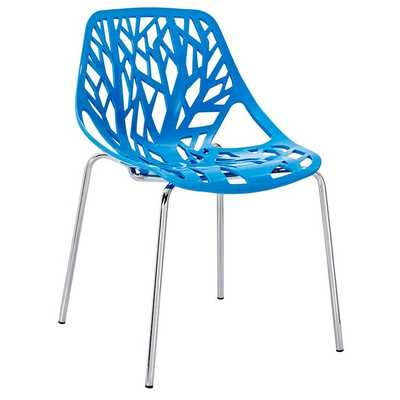 STENCIL DINING SIDE CHAIR IN BLUE - Modway Furniture