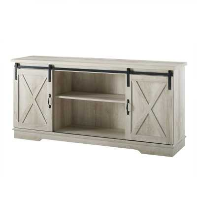 "Tova TV Stand for TVs up to 65"" - Solid White Oak - Wayfair"