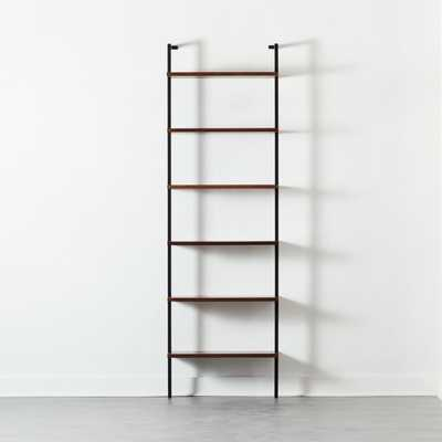 "Helix 96"" Walnut Bookcase - CB2"
