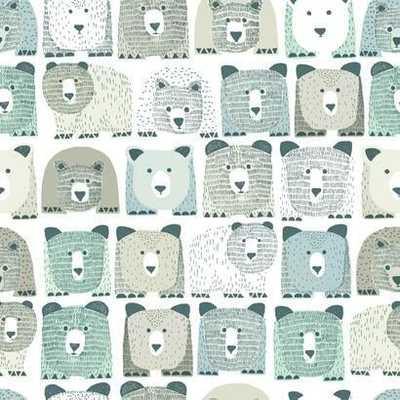Bears Sidewall Premium Peel and Stick Wallpaper - York Wallcoverings