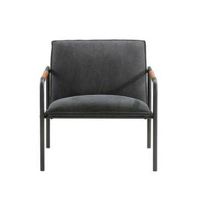 Sauder Boulevard Café Metal Lounge Chair Charcoal Gray - Target