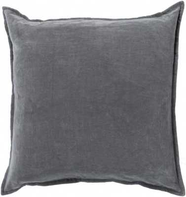 MAXEN VELVET PILLOW, ASH GRAY - Lulu and Georgia