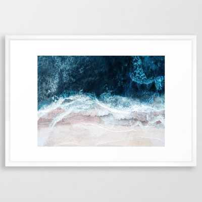 "Blue Sea II - 26"" x 38"" - vector white - Society6"