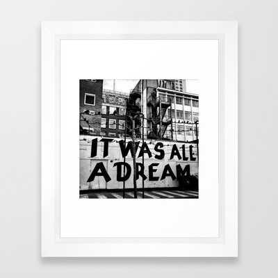 /// reality check Framed Art Print by Mari Wallig - Society6