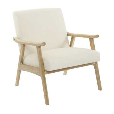 Kayla Lounge Chair -  Linen - Wayfair