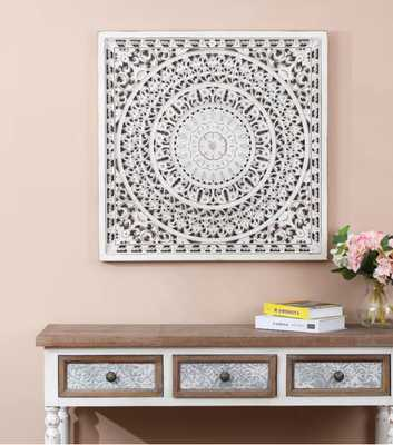 Square Decorative Carved Floral Wall Décor     Square Decorative Carved Floral Wall Décor     Square Decorative Carved Floral Wall Décor     Square Decorative Carved Floral Wall Décor  Mix and match on a gallery wall Square Decorative Carved Floral Wall D - Wayfair