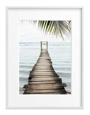 bocas del toro, framed art print, matted with white wood frame, 30x40 - Minted