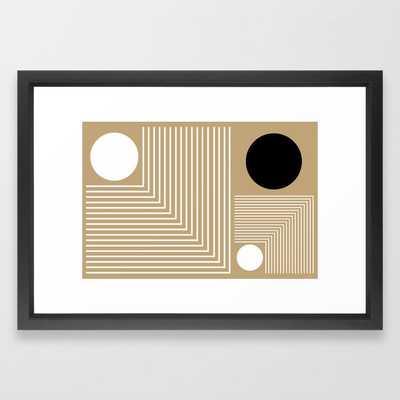 Lines & Circles Framed Art Print - Society6
