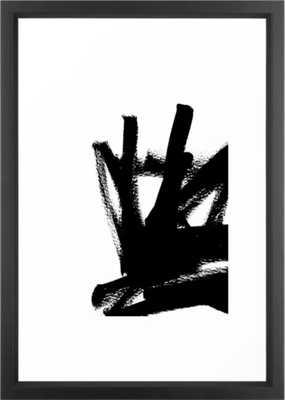 Abstract black & white 1 Framed Art Print - Society6