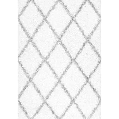 Colona Shag White Area Rug - Wayfair