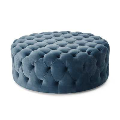 Koffler Tufted Cocktail Ottoman- French Blue - Wayfair
