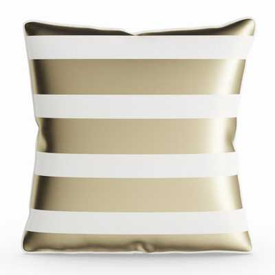 Porch & Den Floyd 18-inch Striped Throw Pillow Shell - Gold - Overstock
