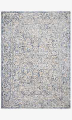 "Pan-01 Blue / Gold Rug - 9' 6"" x 12' 5"" - Loma Threads"