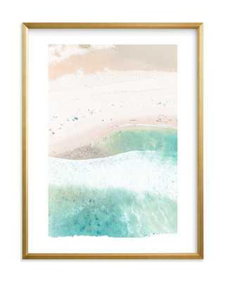 "Wave Shapes - 18x24"" gilded wood frame, white border - Minted"