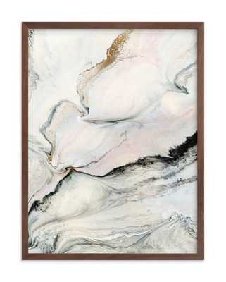 """Beneath the Layers, 18 x 24"""" walnut frame Pewter - Minted"""
