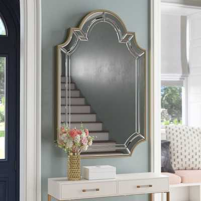 Arch/Crowned Top Champagne Wall Mirror - Wayfair
