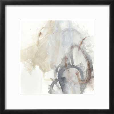 "Supposition I - Chelsea Black Frame - 12"" x 12"" -  3.0"" Crisp - Bright White Mat - Acrylic: Clear - art.com"