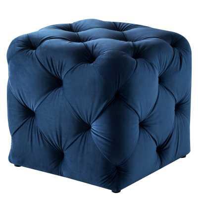 Risborough Tufted Cube Ottoman - Wayfair
