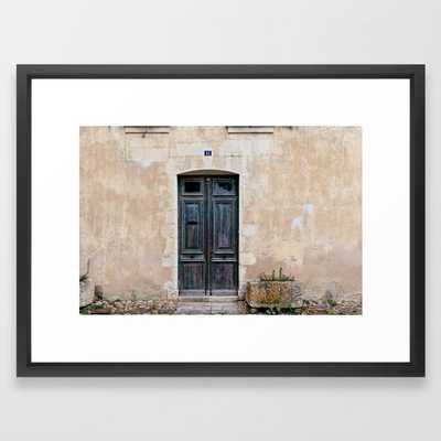 Old fashioned door Framed Art Print, 20x26 - Society6