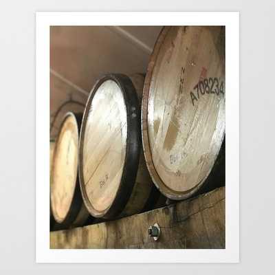 Whiskey Bourbon Barrels Art Print - Society6