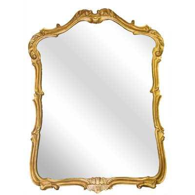 Yaya Accent Mirror-Gold Leaf - Wayfair