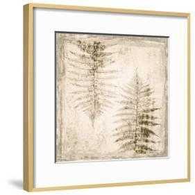 "Stone Leaf II - Ronda Ii Gold - 16"" x 16"" -  2.5"" Crisp - Bright White Mat - Acrylic: Clear - art.com"