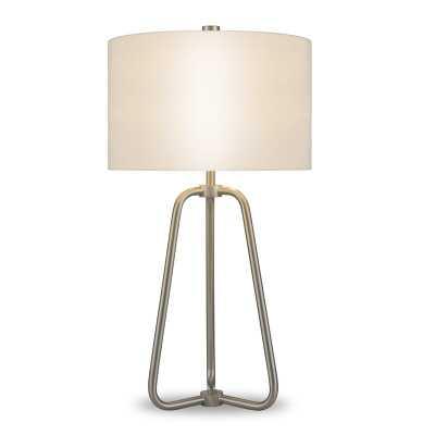 """Eric 26"""" Table Lamp - Brushed Nickel Base - Wayfair"""