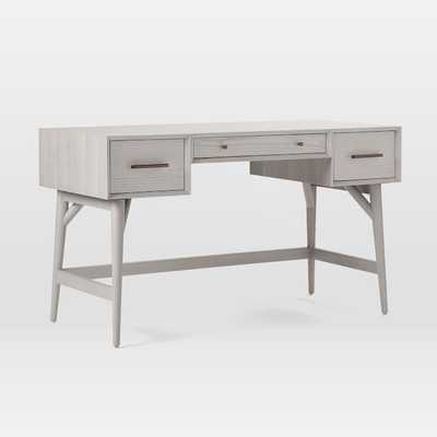 Mid-Century Desk, Pebble - West Elm