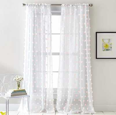 Ella Sheer Rod Pocket Curtain Panels (Set of 2) - Wayfair