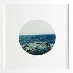 OCEAN BLUE -12''x 12''- Framed (White)- with mat - Wander Print Co.