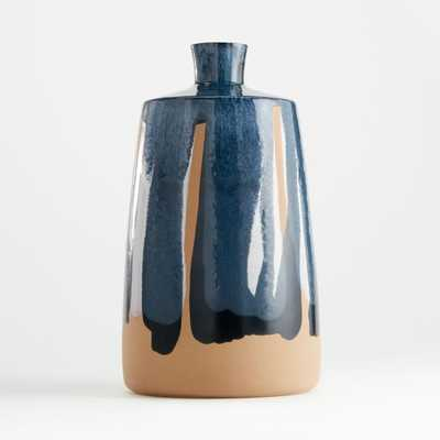 Pintura Dark Blue Vase - Crate and Barrel