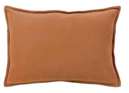 Maxen Lumbar Pillow, Burnt Orange - Down Insert - Lulu and Georgia