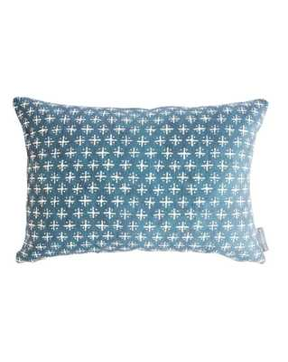 """NEWPORT CROSS PILLOW WITHOUT INSERT, 14"""" x 20"""" - McGee & Co."""