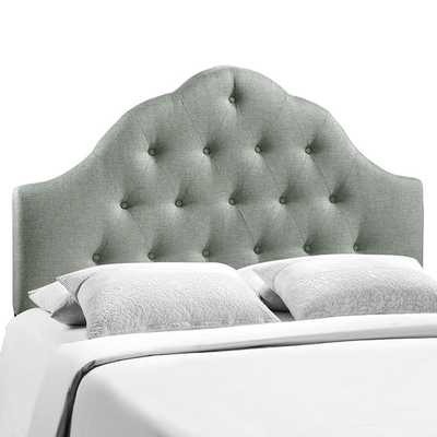 SOVEREIGN KING UPHOLSTERED FABRIC HEADBOARD IN GRAY - Modway Furniture