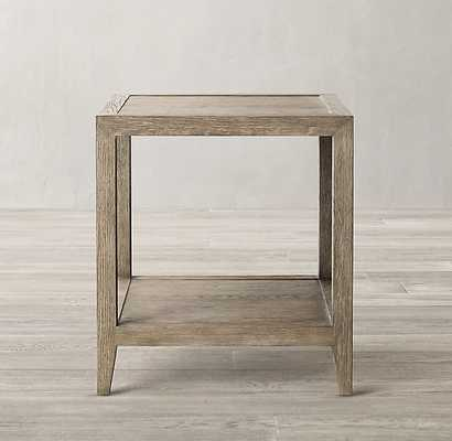 FRENCH CONTEMPORARY SQUARE SIDE TABLE_Grey Oak - RH