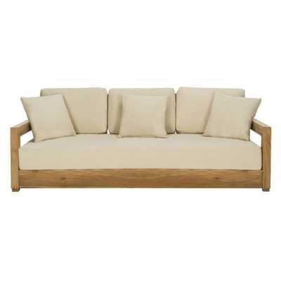 Montford 3-Seat Sofa - Teak/Beige - Arlo Home - Arlo Home