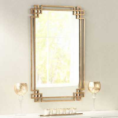 "Devoll Classical Gold 22"" x 36 3/4"" Rectangle Wall Mirror - Lamps Plus"