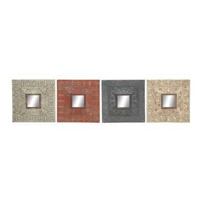 Metal Mirror Wall Decor Set - Wayfair