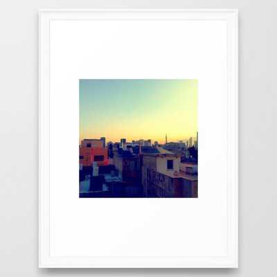 Tel Aviv Skyline Framed Art Print-Scoop White Frame - 20x26 - Society6