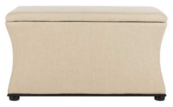 Aroura Storage Bench - Black/Beige - Arlo Home - Arlo Home