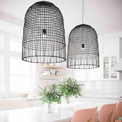 Effie Rattan Chandelier - Maren Home