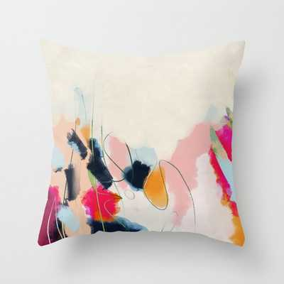 abstract art Throw Pillow with insert - Society6