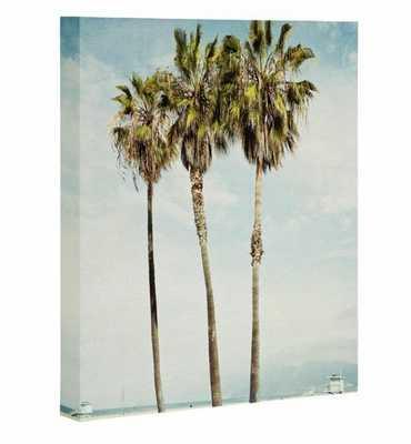 VENICE BEACH PALMS Art Canvas By Bree Madden - Wander Print Co.