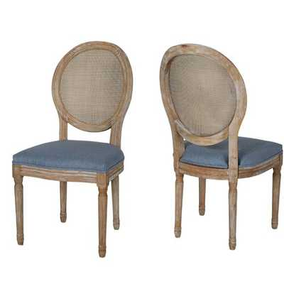 Evelina Solid Wood Dining Chair - Set of 2 - Wayfair