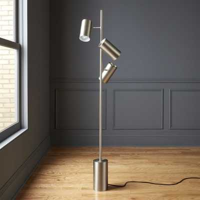 Trio Brushed Nickel Floor Lamp - CB2