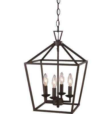 Carmen 4 - Light Lantern Geometric Pendant - Rubbed Oil Bronze - Wayfair