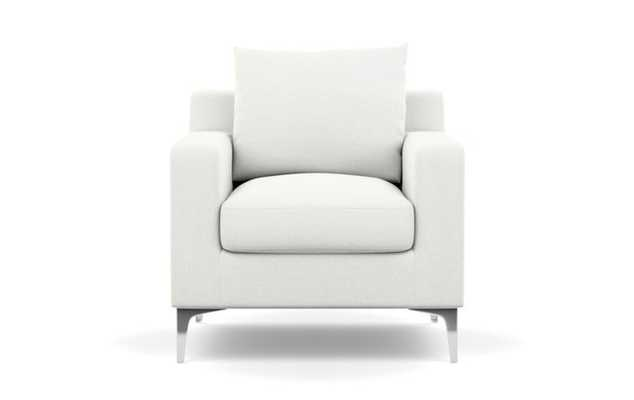 Sloan Chairs with Petite in Swan Fabric with Chrome Plated legs - Interior Define