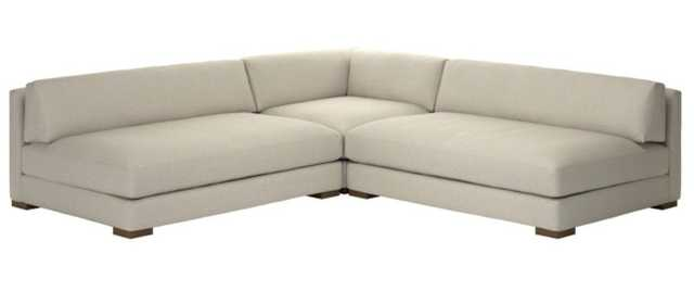 PIAZZA 3-PIECE MODULAR DOUBLE APARTMENT SOFA SECTIONAL - CUSTOM - CB2